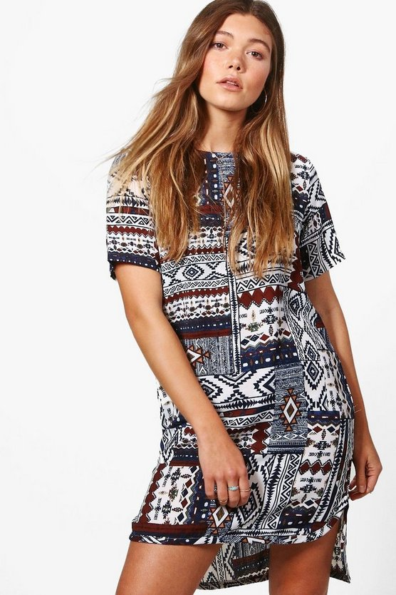 Danielle Printed Shift Dress