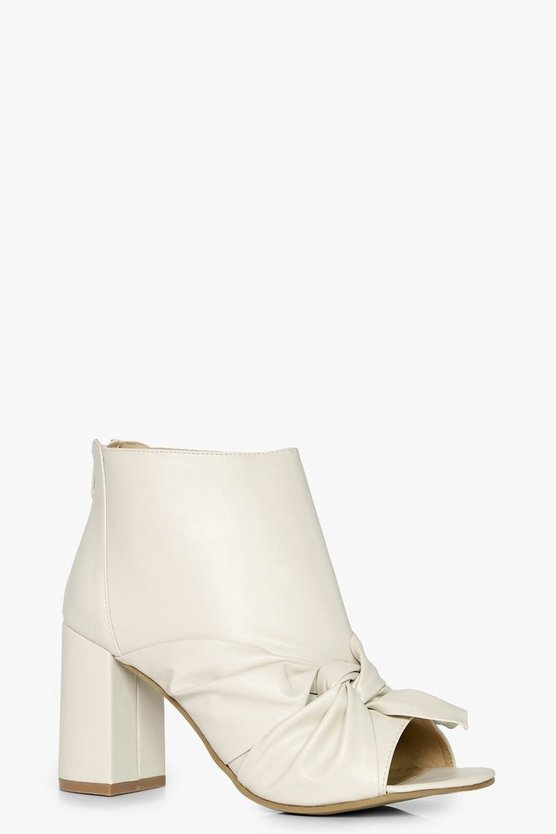 Megan Peeptoe Knotted Front Shoe Boots