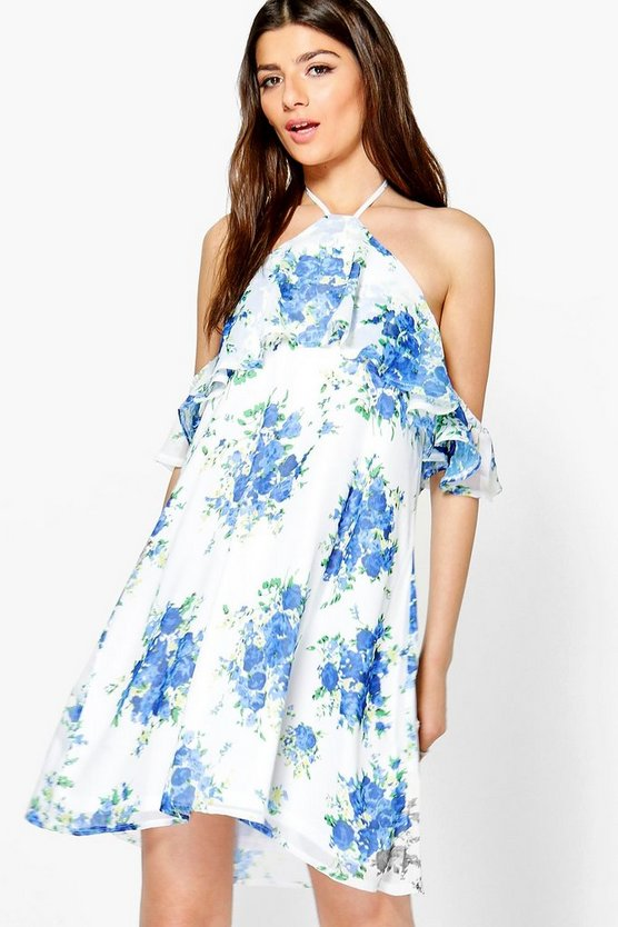 Grace Floral Ruffle Swing Dress