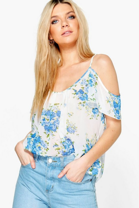 Florence Floral Cold Shoulder Top