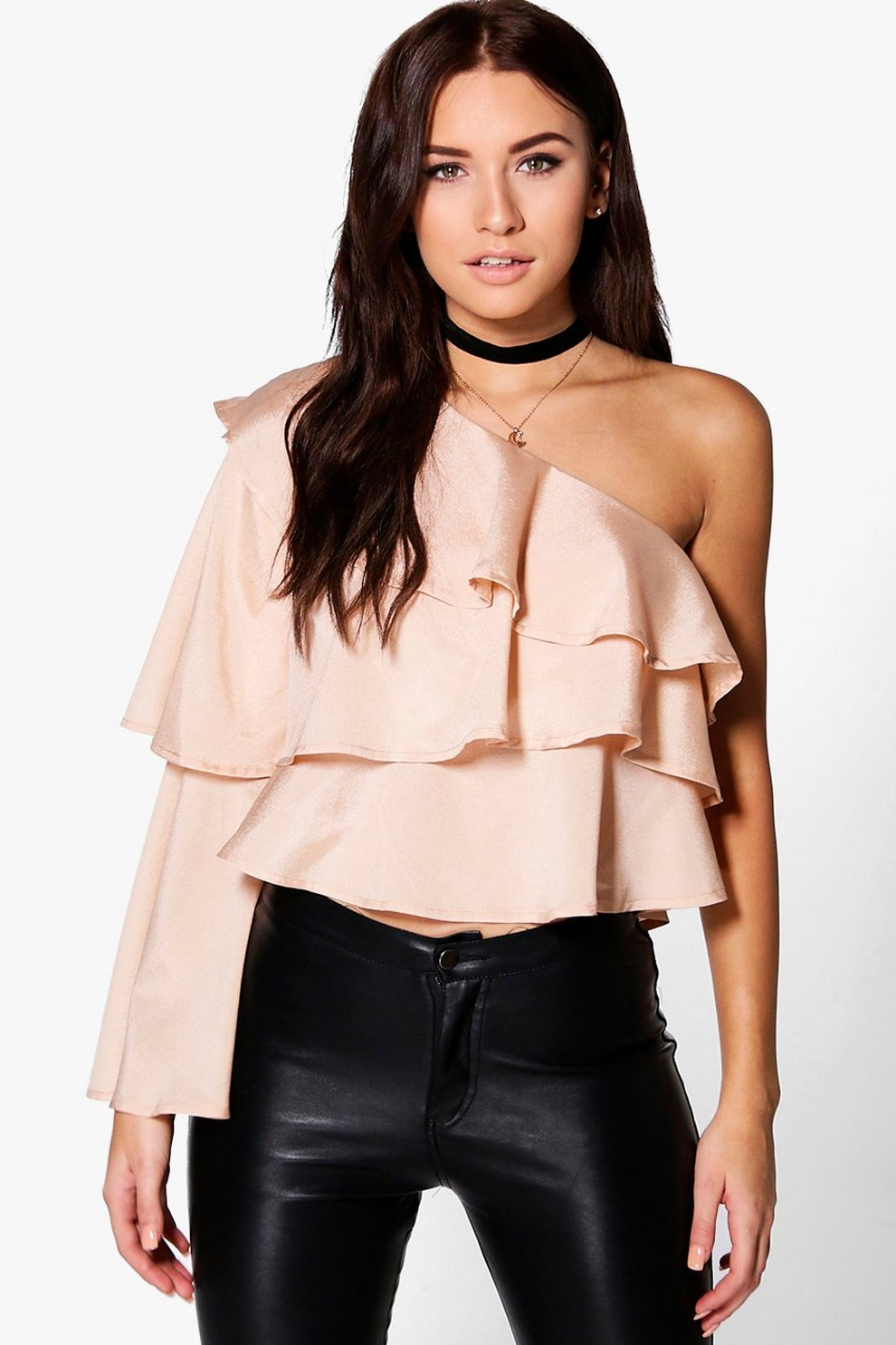 6adb7b27520 One Shoulder Ruffle Top