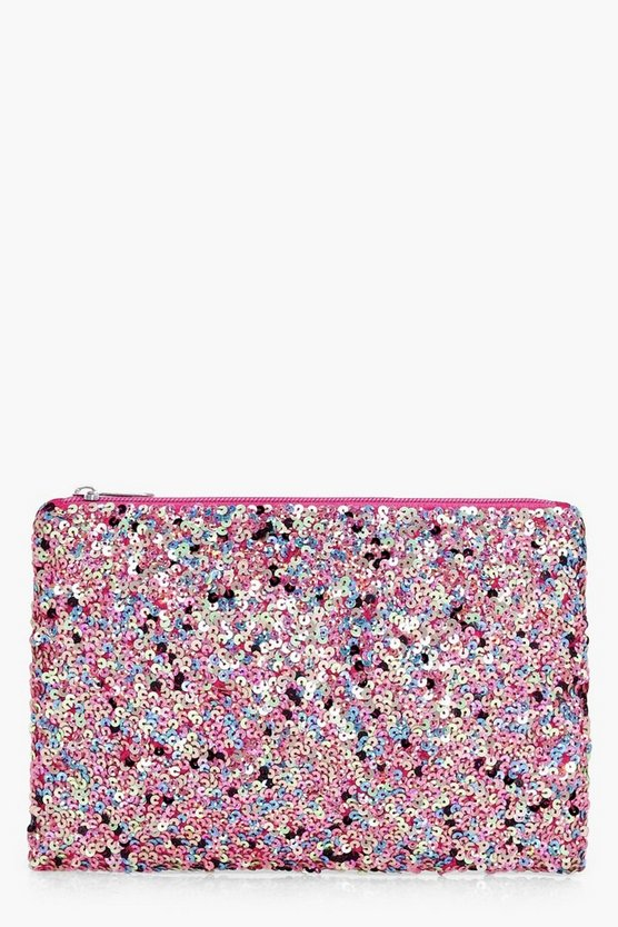 jennifer pochette con paillettes multicolor
