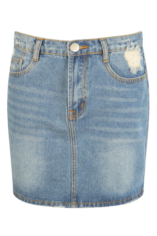 Minifalda medio acampanada bolsillos 5 con Azul 0XPn04ax