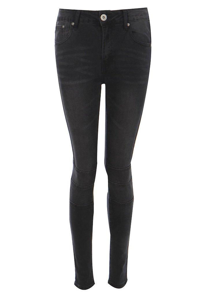 best shop best sellers crazy price Jessie High Rise Biker Skinny Jeans   boohoo NZ