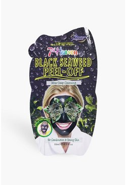 Womens Black Seaweed Peel Off Face Mask