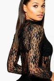 b9ae79b05b ... Wendy High Neck Lace Long Sleeve Bodysuit alternative image