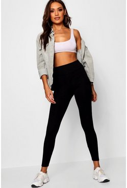 Black Basic High Waist Leggings