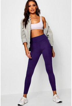 Leggings básicos de talle alto, Purple