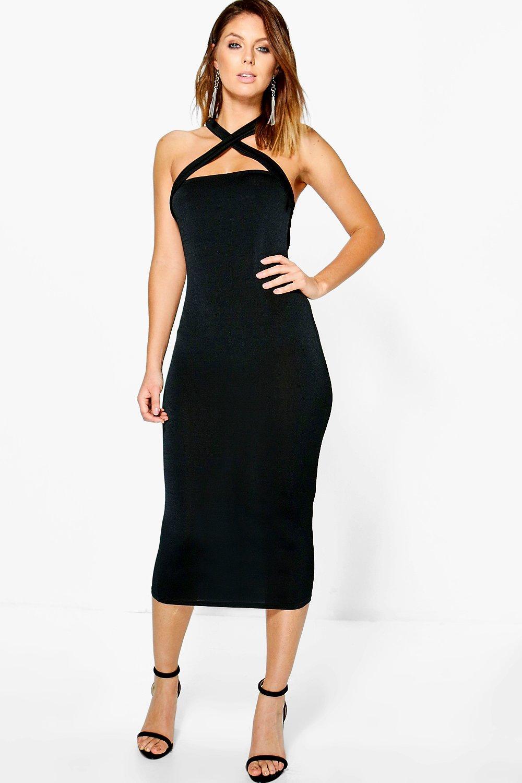 8bfd20a9206 Loren Slinky Strappy Multi-Way Midi Dress
