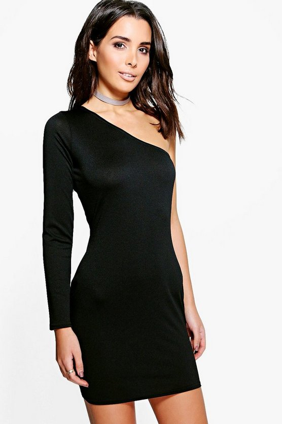 Issy Textured One Sleeved Bodycon Dress