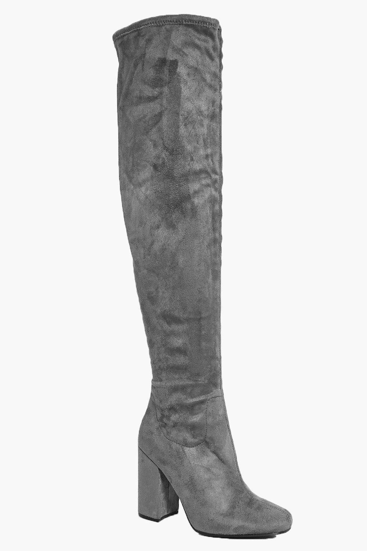 e63aff37763 Laura Block Heel Over The Knee Boot | Boohoo