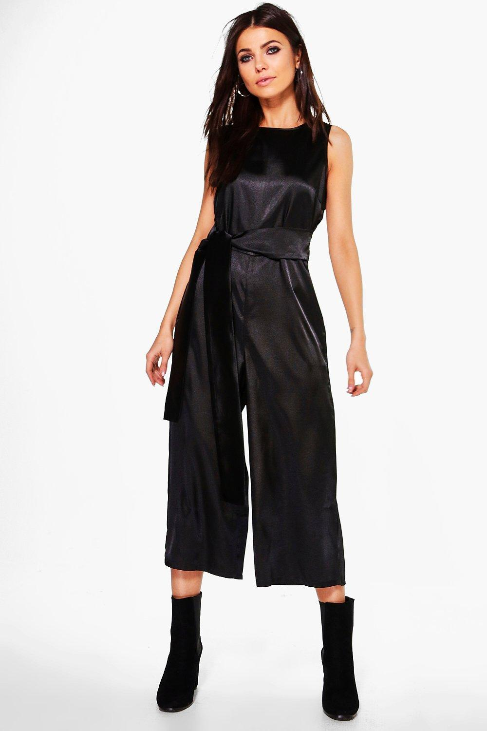 Satin jumpsuit | Shop for cheap Women's Outerwear and Save online
