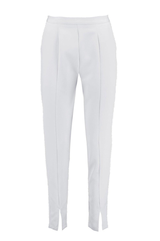 alla slim Pantaloni caviglia a davanti linea con spacchetti dUxzq6