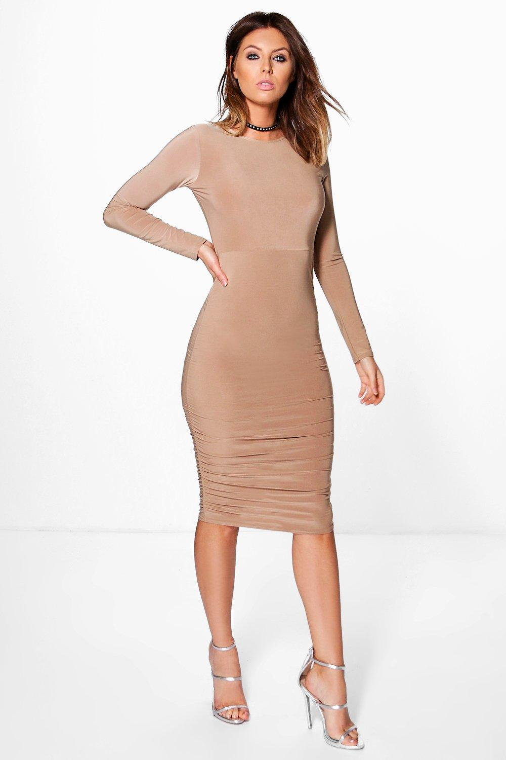 Boohoo Long Sleeve Wrap Bodycon Dress Really Cheap Shoes Online Buy Cheap 2018 New Sale Footaction Clearance Lowest Price ALxefX