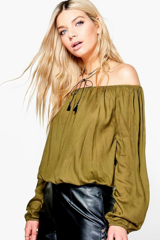 Rachel Woven Off The Shoulder Top
