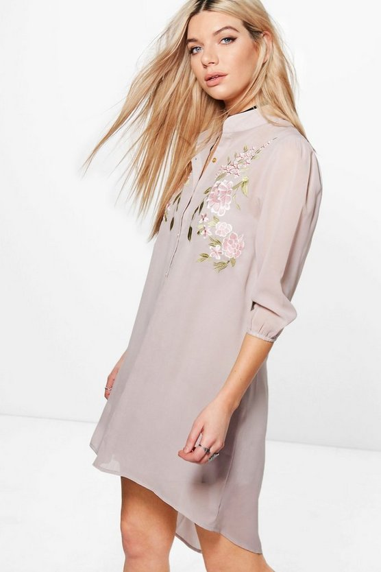 Boutique Anouk Embroidered Shirt Dress