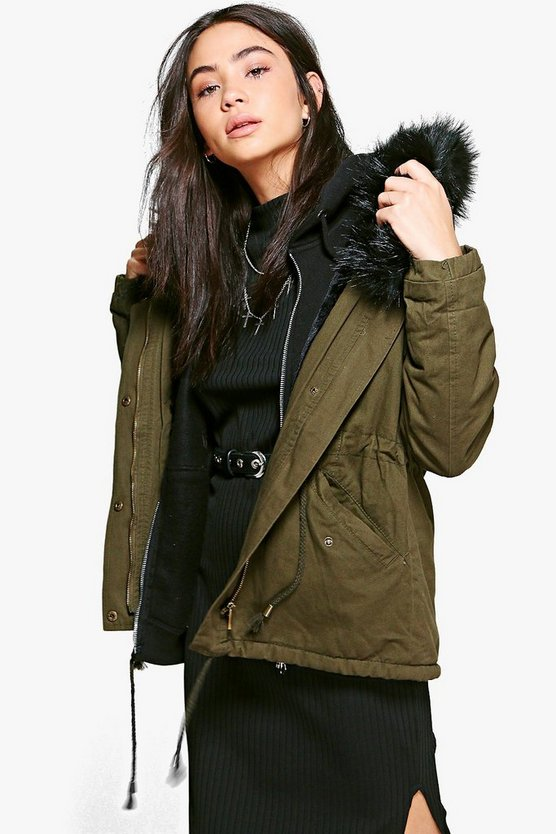 Isobel Faux Fur Long Parka