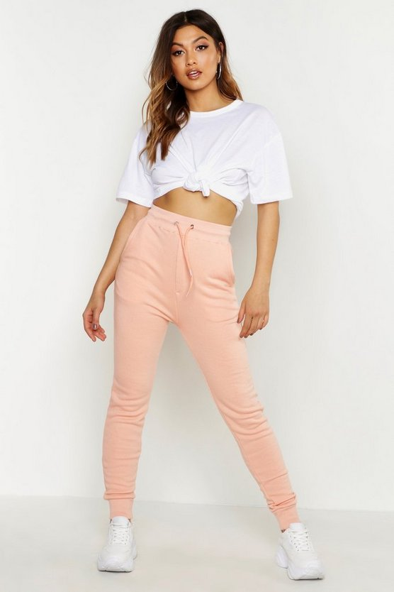 Womens Coral Basic Sweat Joggers