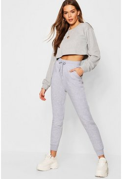 Womens Grey marl Basic Sweat Joggers