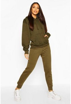 Womens Military green Basic Sweat Joggers