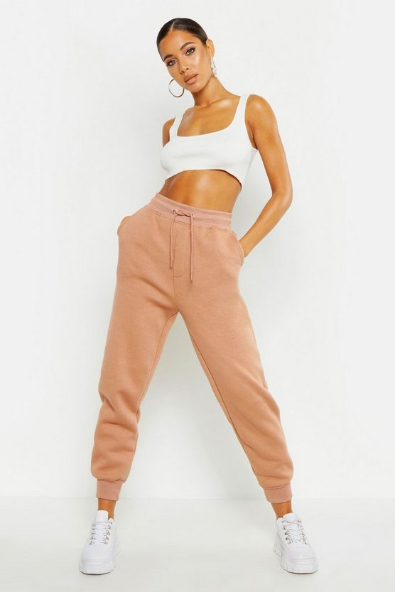 Womens Sand Basic Sweat Joggers