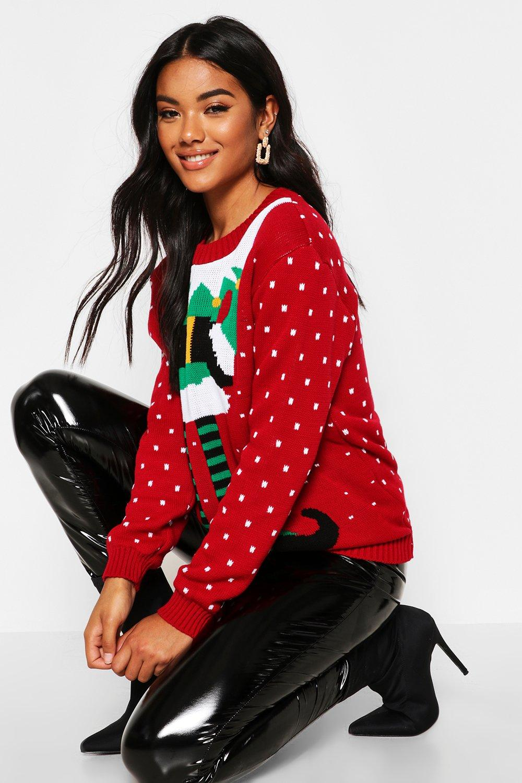 navideño Rojo navideño de Jersey elfo elfo de elfo navideño Rojo Jersey Jersey de Rojo SafwAAq