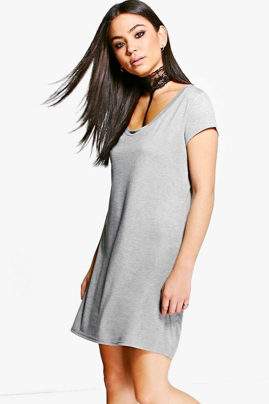 Adina Lace Choker T-Shirt Dress