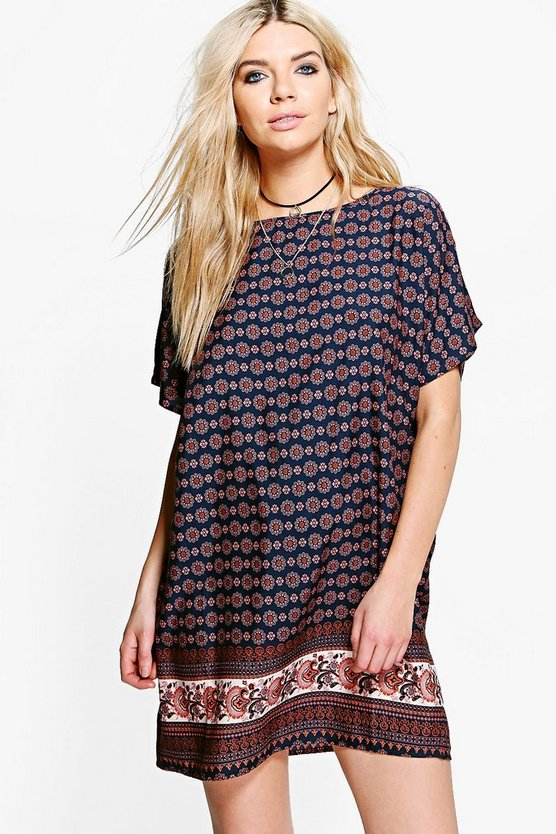 Immie Cap Sleeved Shift Dress