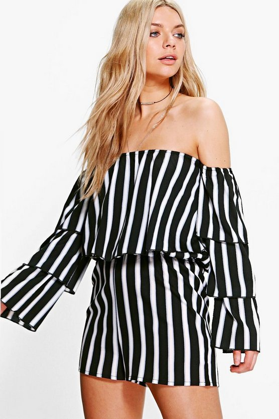 Louise Frill Off The Shoulder Playsuit
