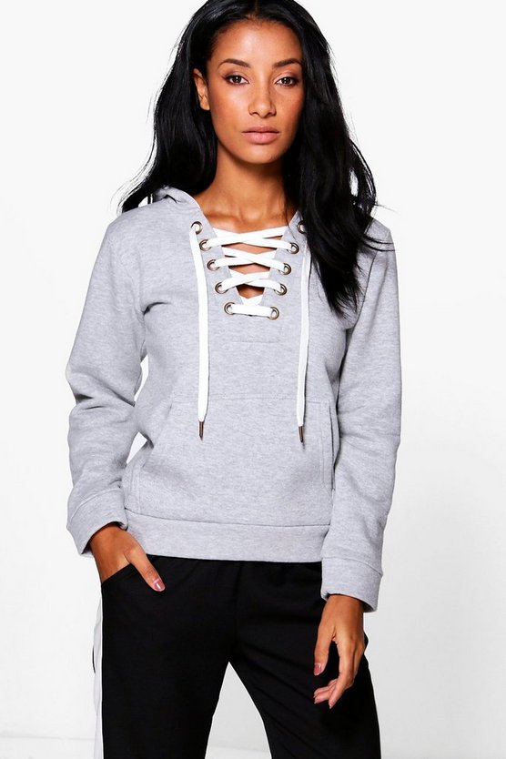 Sue Premium Lace Up Hoody
