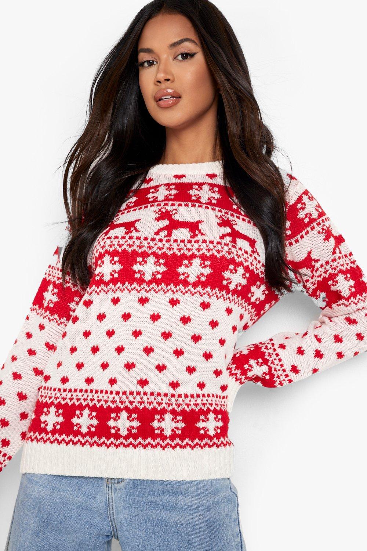 y Jersey de copos renos con Crema navideño OOzwqvtU