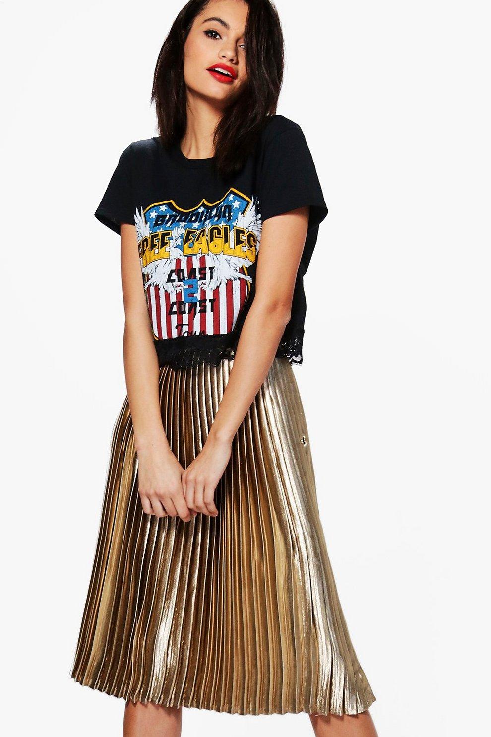 47d404791d783 Boutique Kati Satin Pleated Midi Skirt