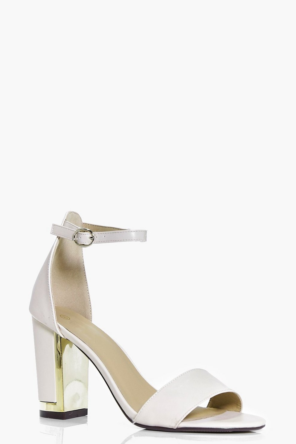 94351be8f036 Mollie Gold Plate Two Part Block Heel