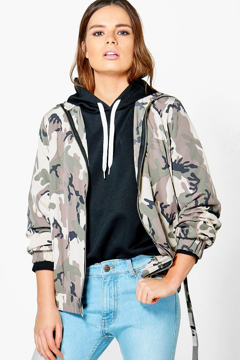 3e3bd7aefdc Lily Camo Oversized Jacket. Hover to zoom
