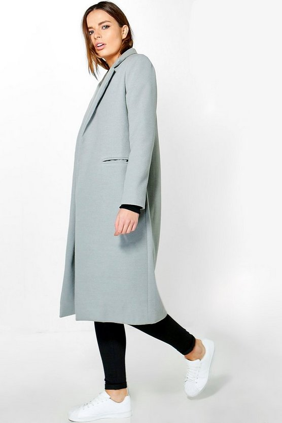 Womens Grey Tailored Coat