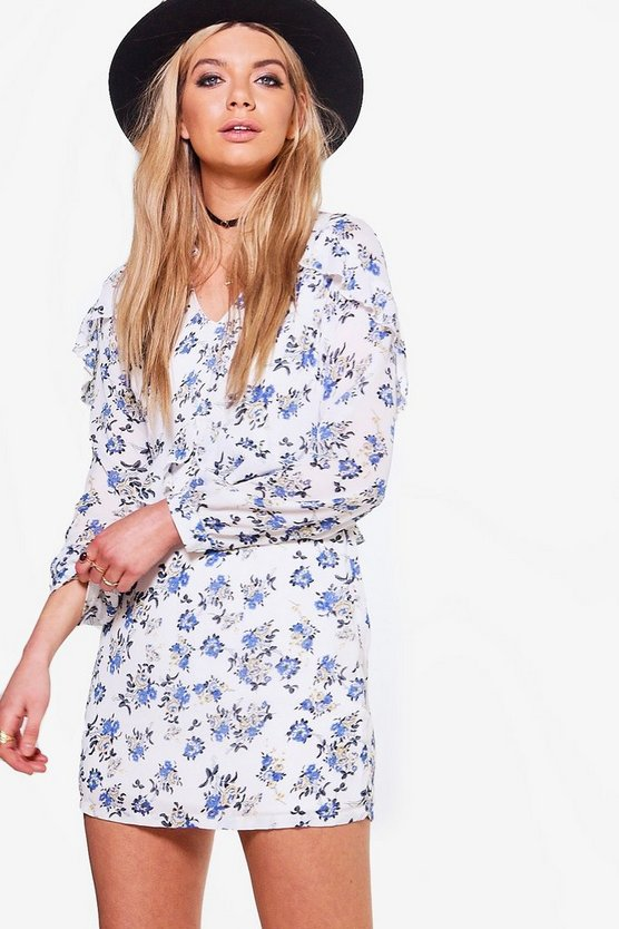 Rita Floral Printed Tea Dress