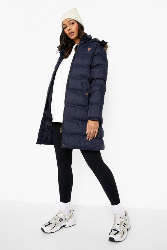 Longline Padded Hooded Jacket