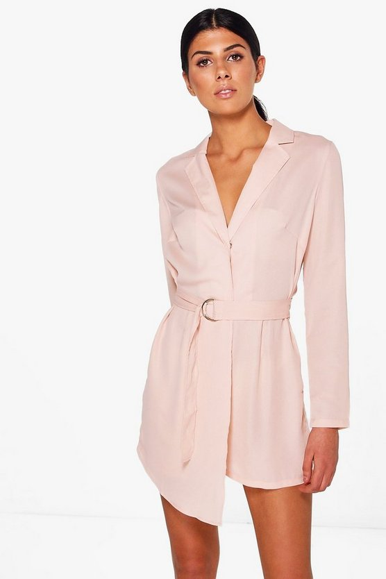 Tailored Woven Belted Playsuit