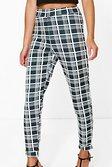 3a38fc9016e2 ... Womens Black Juana Monochrome Dogtooth Skinny Stretch Trousers  alternative image
