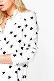 6ac09bb56a71 ... Womens White Erin Star Print Western Shirt alternative image