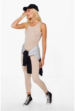 Womens Nude Basic Jersey Unitard