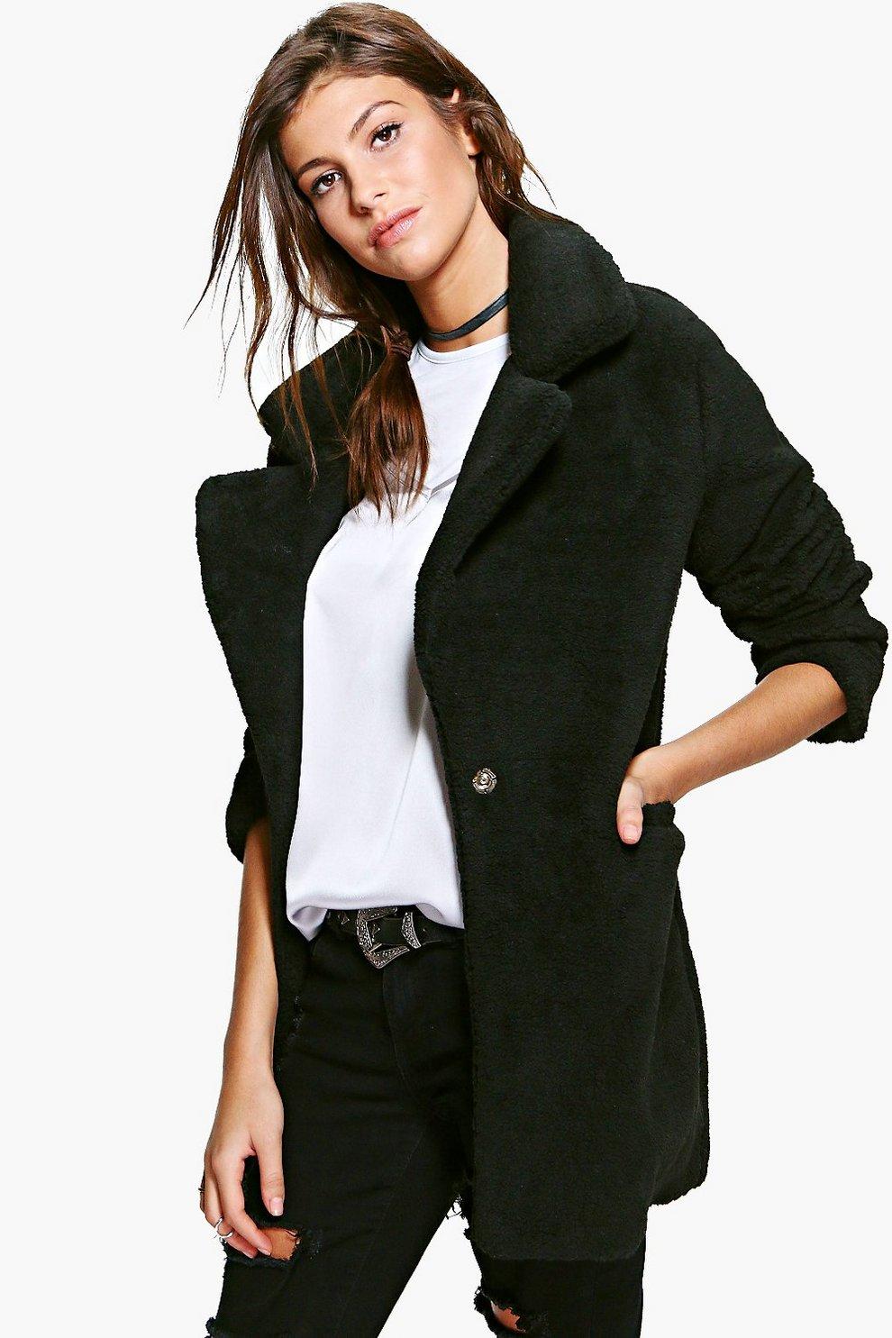 0c2f5415ea837 Amber Crop Faux Fur Coat Boohoo