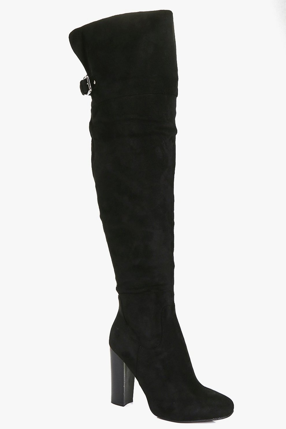 86a2da470b3 Amy Block Heel Back Vent Over The Knee Boot | Boohoo