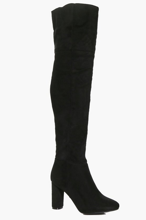 Nancy Block Heel Thigh High Boot