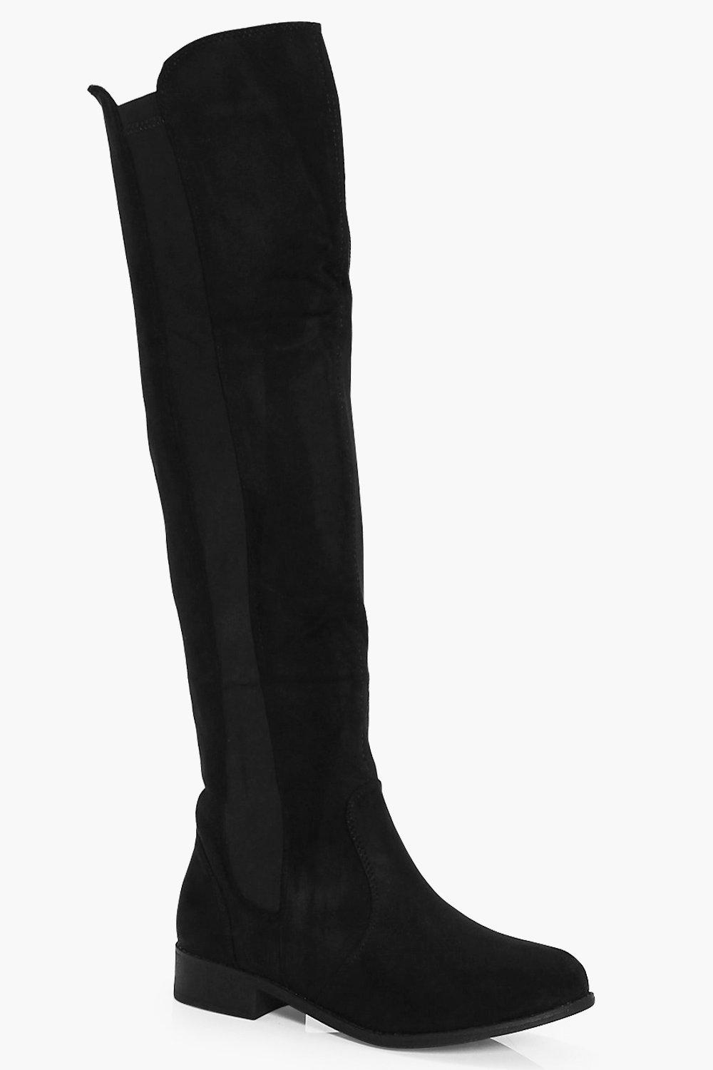 e3f82e0950d Flat Knee High Boots. Hover to zoom