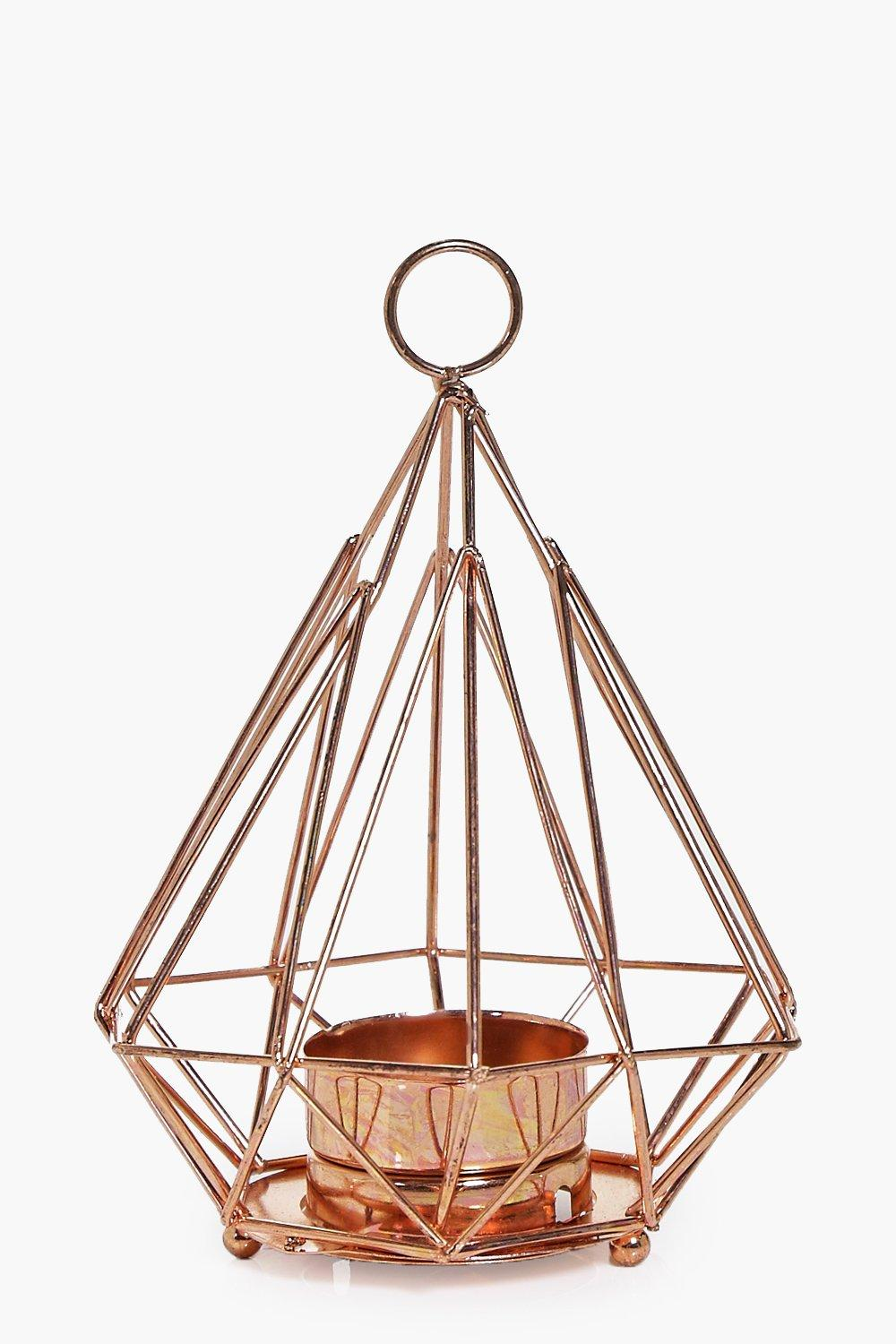 Copper Pyramid Candle Holder | Boohoo