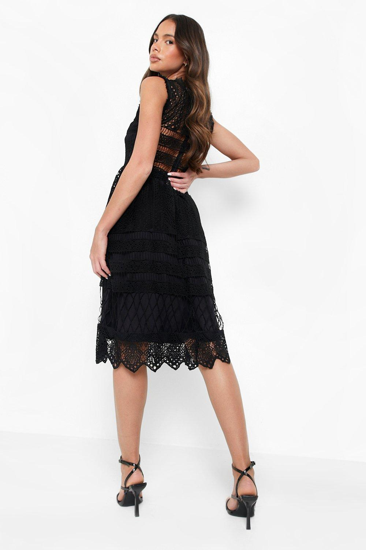 87c697923d Boohoo Womens Boutique Lace Midi Skater Dress