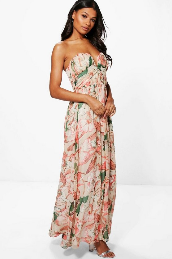 Boutique Kelly Floral Bandeau Maxi Dress