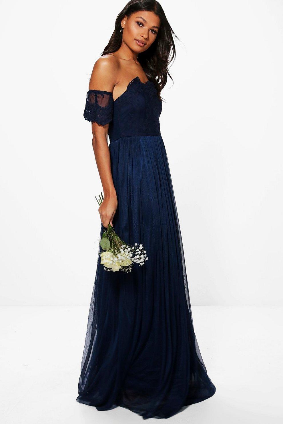 666260ea1fd5 Boutique Lace Off Shoulder Maxi Dress