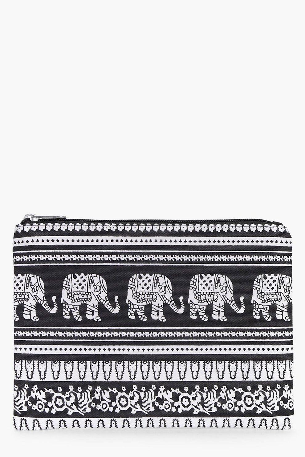 a7492a8543c9 Aztec Print Make Up Bag   Boohoo
